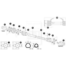 Cross & Bearing Kit; Extended Lube CV