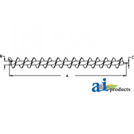 Auger, Horizontal Unloading, Extended Wear; 21""