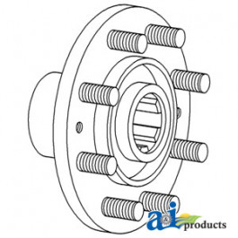 Hub & Stud, Rear Axle