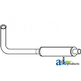 Horizontal Muffler & Pipe Assembly