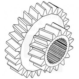 Gear, Sliding Cluster, 1st/ 3rd Speed