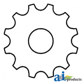 "Sprocket w/ 1"" Hole"