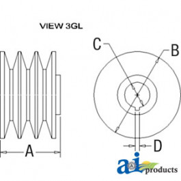 Pulley, 3V-Groove