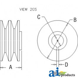 Pulley, 2V-Groove
