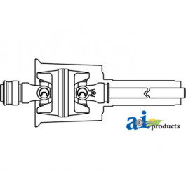 Front Half CV W/ Male Shaft, Cat 5, 35 Series, 1000 RPM