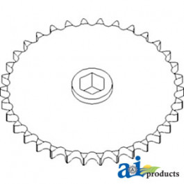 Sprocket, Row Unit; 34 Tooth / 60 Chain