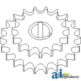 Sprocket Assy., Shaft w/ Reverser, Front (Variable)