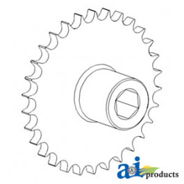 Sprocket Assy, Upper Tailings Elevator