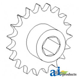 Sprocket Assy, Lower Tailings Auger