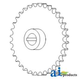 Sprocket Assy., Shaft & Pivot Housing, Feeder House, Upper