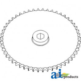 Sprocket, Row Unit; 52 Tooth / 60 Chain