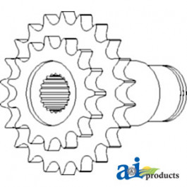 Drive Sprocket Assy., Drive Shaft, Sheave & Mountings, Front