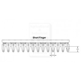 Short Flat Finger Adjustable Precleaner