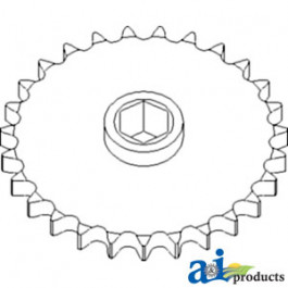 Sprocket, Row Unit; LH, 27 Tooth / 60H Chain