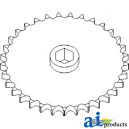 Sprocket, Row Unit; 33 Tooth / 60 Chain, Speed Up