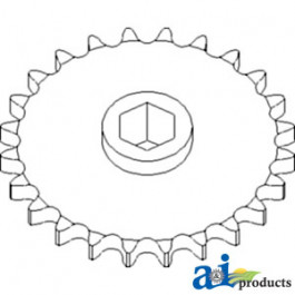 Sprocket, Row Unit; 24 Tooth / 60 Chain, Speed Up
