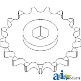 Sprocket, Row Unit; 17 Tooth / 80 Chain, Speed Up