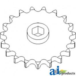 Sprocket, Row Unit; 19 Tooth / 100 Chain
