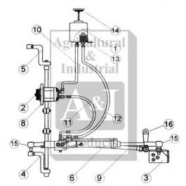RH Steering Arm, (5)