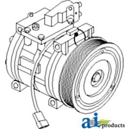 Compressor, New, Denso Style w/ Clutch