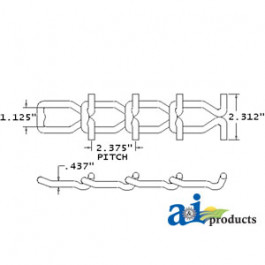 67 T-Rod Chain, 1 Link