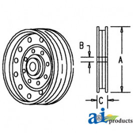 Pulley, Flanged Idler