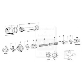 "Implement Yoke, 1 3/4"" - 20 Spline W/ Clamp Bolt"