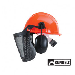 Forestry Helmet, Visor, and Ear Muffs