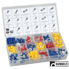 Solderless Terminal and Connector Assortment, 175 pieces