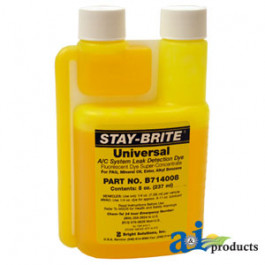 Universal Stay Bright A/C Dye, 8 OZ Bottle,