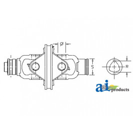 """Complete CV Joint, Outer Tube, 650 CV Series, Size 8, 1 3/8"""" 6 Spl"""