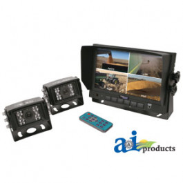 "CabCAM  Video System, Quad (Includes 7"" Monitor and 2 Cameras)"