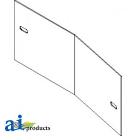 Cover Plate; Concave Extension Only