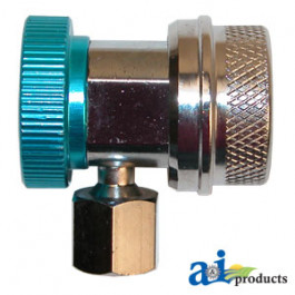 R-134a Low Side Coupler w/ Manual Shut-Off