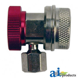 R-134a High Side Coupler w/ Manual Shut-Off