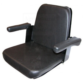 Seat Assy w/ Flip-Up Arms, BLK Vinyl