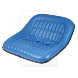 "Seat, 19"" Pan, Steel, 7"" X 2"" Backs, BLU VINYL"