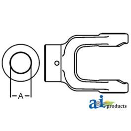 Implement Yoke Shear Pin w/ Pin Hole