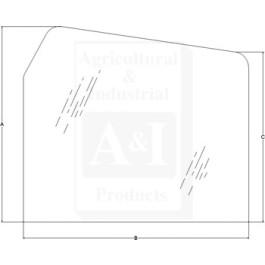Glass, Rear, Upper - Fixed