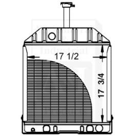 Radiator w/ Oil Cooler (Rear Fittings) - D8NN8005BB