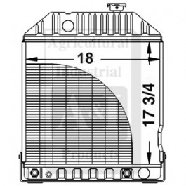 Radiator w/ or w/o Cooler (Rear Fittings)