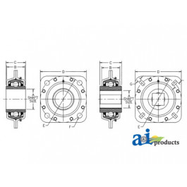 Flanged Disc Bearing, Relubable, Import