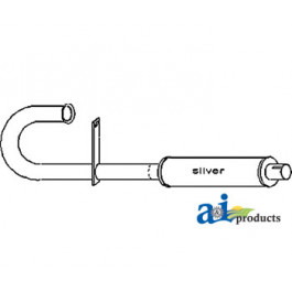 Vertical Muffler & Pipe Assembly