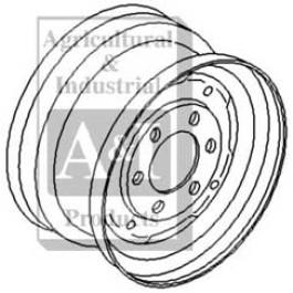 "Rim, Front Wheel 5.5"" X 16"""