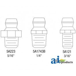 "1/4"" Drive Type Fittings, 20 Pack"