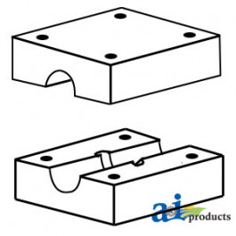 Block, Walker Wood Bearing (Set of 2)