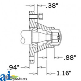 Hub & Spindle Assy. (4 Bolt)