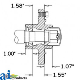 Hub & Spindle Assy. (6 Bolt)