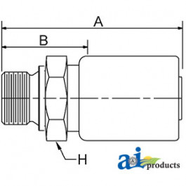 (HC-M-BSPP) Male BSP Parallel Pipe - Rigid - Straight