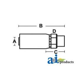 (HC-M-BSPP) Male BSP Parallel Pipe - Rigid - Straight